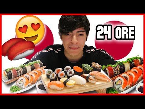 🍣 Mangio per 24 ORE SOLO SUSHI! | PEPIYOS 🍣