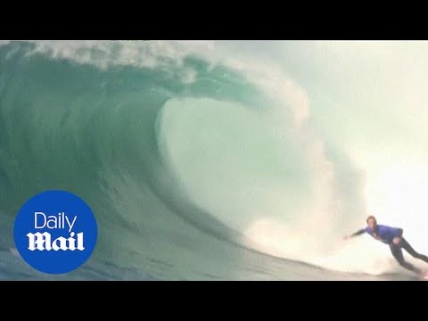 Surfers take on the 'Most dangerous wave in the world' - Daily Mail