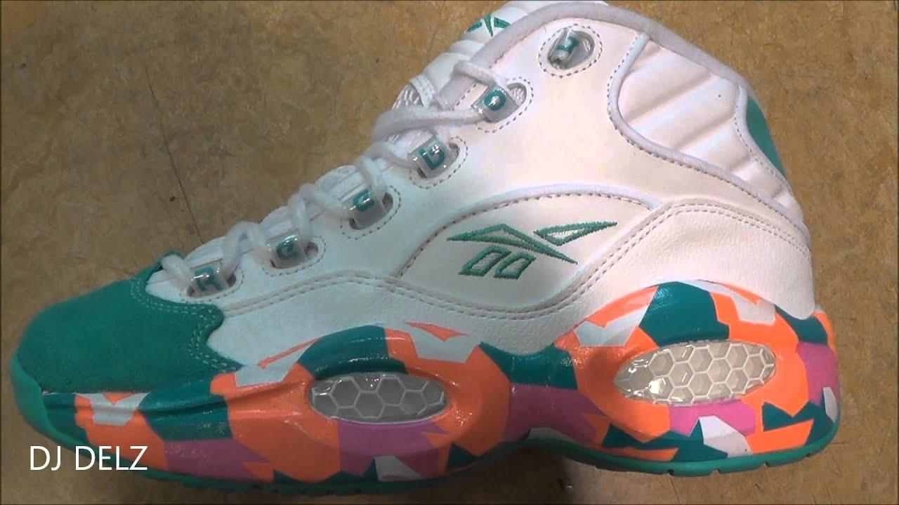 Reebok Classics Question White Noise Iverson Sneaker HD With Dj Delz ... 0b8391036
