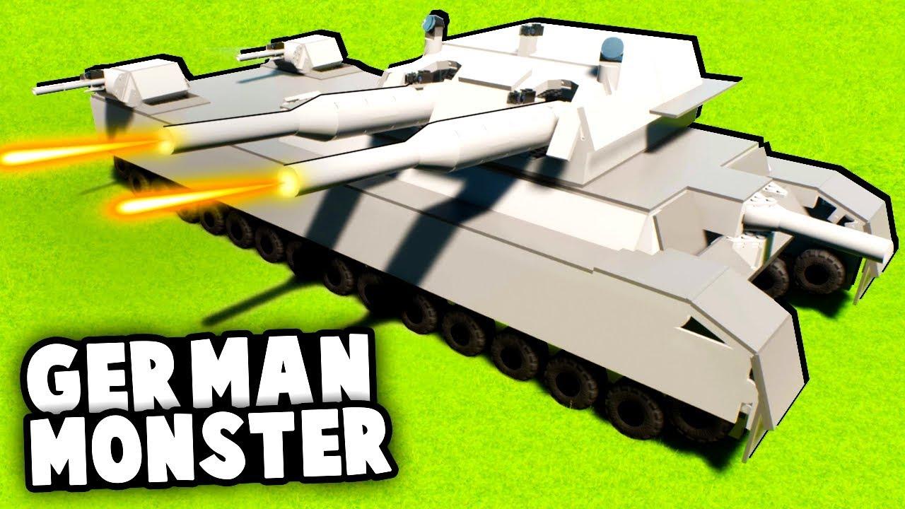 BIGGEST German Tank EVER vs Russian Army! (Brick Rigs Best LEGO