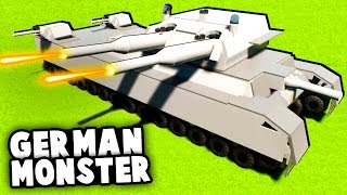 BIGGEST German Tank EVER vs Russian Army! (Brick Rigs Best LEGO Creations)