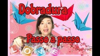 COMO FAZER ORIGAMI DE TSURU (Dobradura) 折り紙 鶴