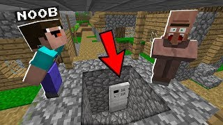 Minecraft NOOB vs PRO : WHAT is THIS DOOR at the BOTTOM of the WELL? IN MINECRAFT