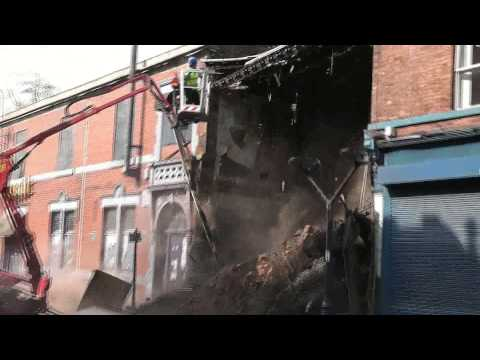 "Building Collapse with ""Right Said Fred"" by Bernard Cribbins 2014"