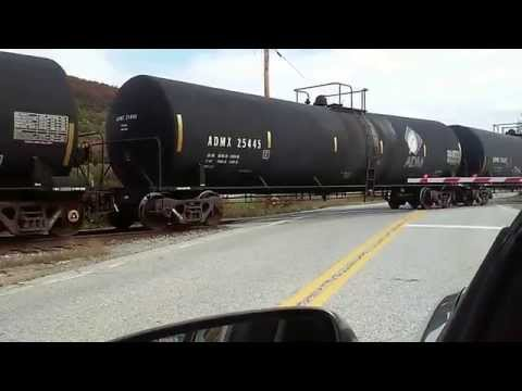 Pan Am Railways Freight Train at VT Route 346 In Pownal, VT