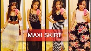 HOW TO STYLE: MAXI SKIRT (4 LOOKS) Thumbnail