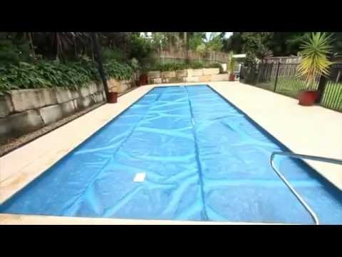 How to install a solar pool cover youtube - Swimming pool solar covers inground ...