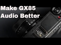 gx85 audio - make camera mic sound better