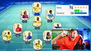 FUT DRAFT 196 RATED on FIFA 19! Full Prime ICON FUT draft ft R9 Ron...