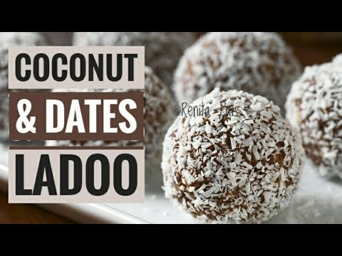 2 ingredients laddoo/ dates and coconut laddoo/ cooking without fire/ dates dessert/No Heat No bake