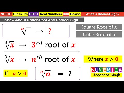 9th L#30 | Ch01 Number System | What Is Radical In Mathematics | Nth Root Of Any Number | Math NCERT
