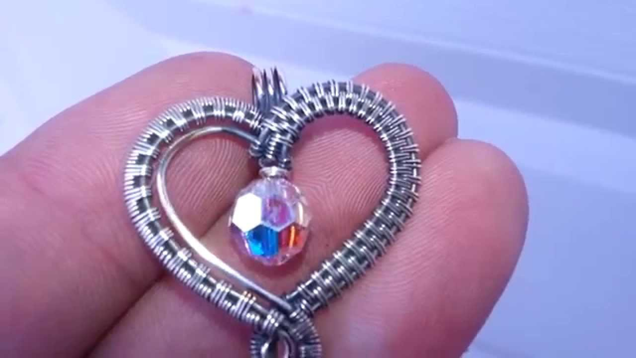 Wire Wrapped Heart Pendant - YouTube