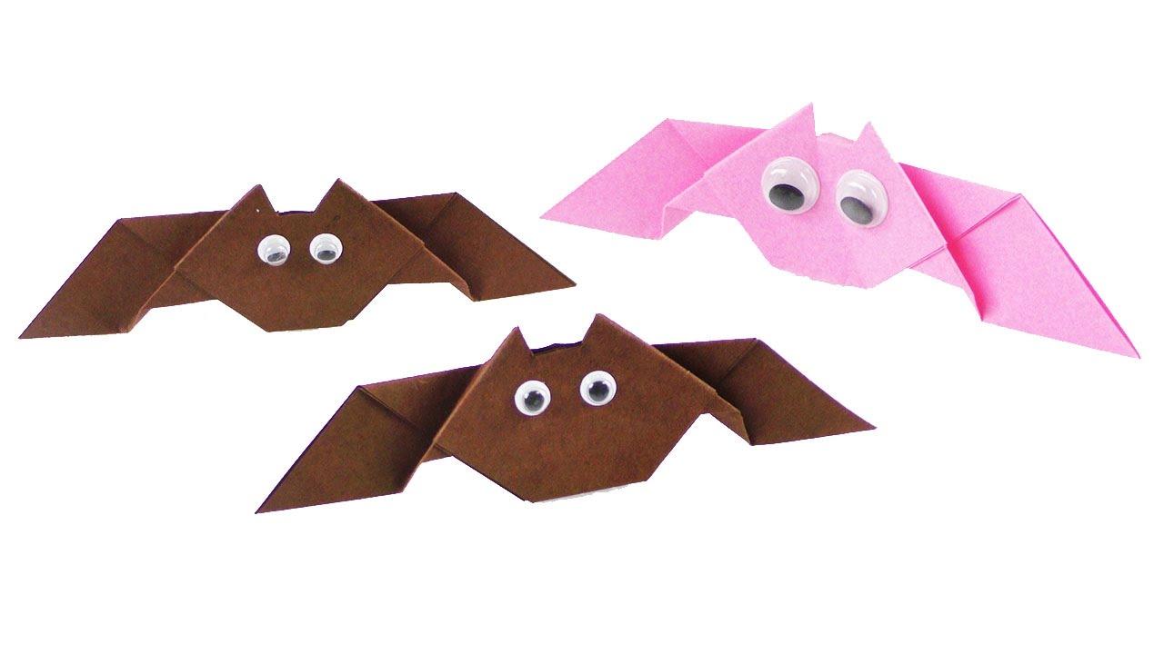 Fledermäuse Basteln Halloween Deko Idee 3d Falten Einfache