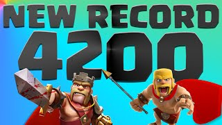 Clash of Clans NEW RECORD I'm At 4200 Trophies Epic Attacks