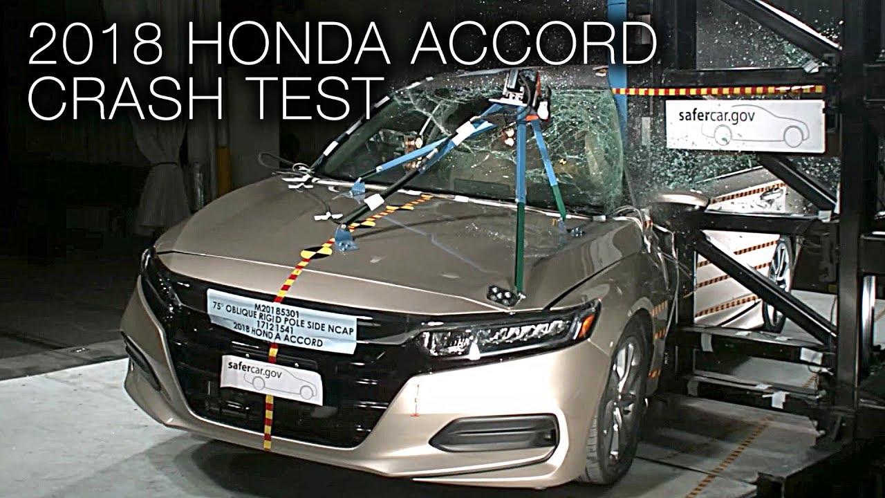 Honda Accord 2018 Pole Crash Test