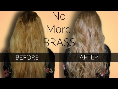 Toning BRASSY Hair - Wella T18 & T11 / Easy at home hair Highlights
