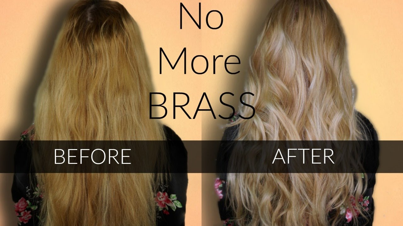 Toning Brassy Hair Wella T18 T11 Easy At Home Hair Highlights
