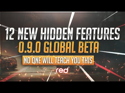 [Pubg Mobile] 12 NEW AND HIDDEN FEATURES | 0.9.0 GLOBAL BETA | No one will teach you this | RED