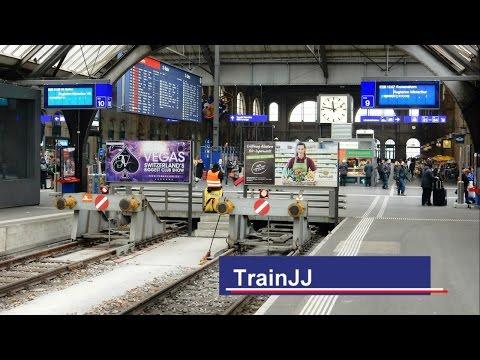 Zurich Hb │Zug um Zug am Bahnhof │SBB - ICN - ICE - Railjet - ÖBB │Trains at station │ Swiss Trains