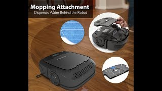 PureClean PUCRC50 Robot Vacuum and Mop - Feature Overview