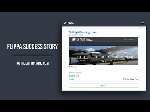 How I Make Extra Income On Flippa - Success Story of GetFlightTraining.com