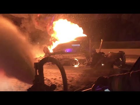 Gas Tanker Truck Burns And Boils On Utah Highway