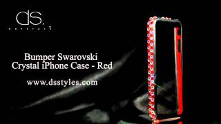 DSstyles Bumper Swarovski Crystal iPhone Case - Red Thumbnail