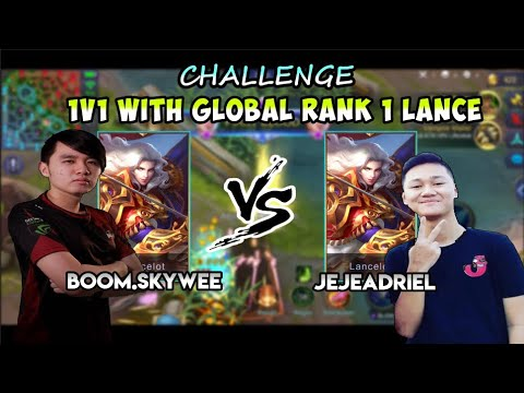 SKYWEE 1V1 WITH JEJEADRIEL GLOBAL RANK 1 LANCELOT