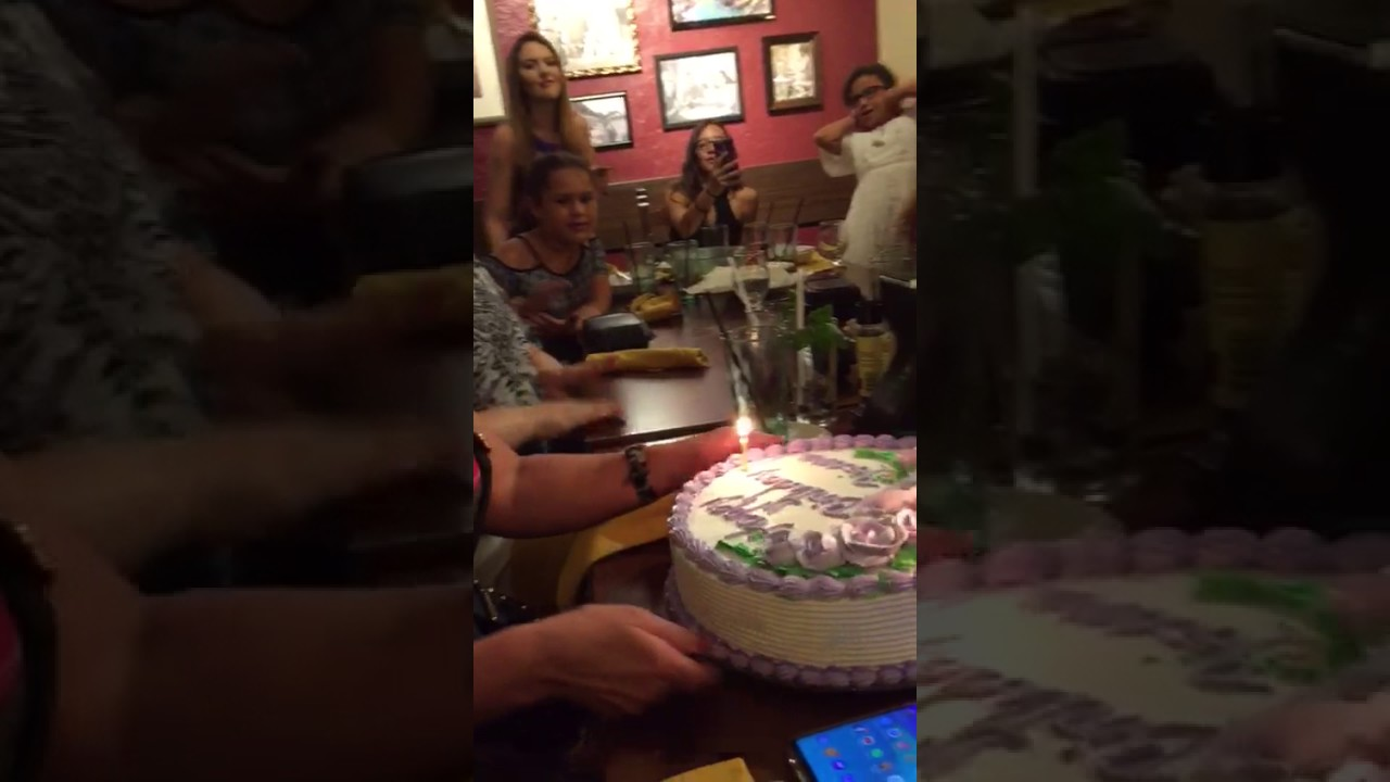 My Birthday At Olive Garden June 242017 Youtube