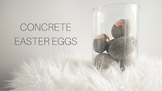 DIY Concrete Easter Eggs | EASTER DECOR DIY