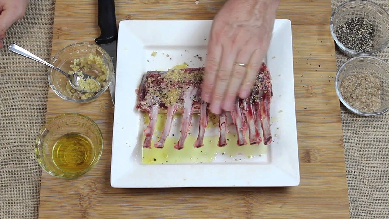how to make grilled rack of lamb youtube