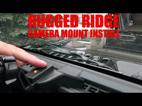 Rugged Ridge JK Mount Dash Organizer Camera Mount - Install