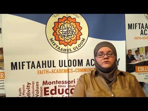 Miftaahul Uloom Academy Parent Laila Ahmed's testimonial