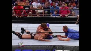 Chris Benoit & Eddie Guerrero vs. The Rock & Edge: Smackdown, Aug. 22, 2002