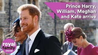 Prince Harry, Meghan, Prince William and Kate arrive together for wedding