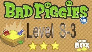 Bad Piggies Sandbox S-3 Extra Level / Bad Piggies Caja de Arena S-3 Nivel Extra