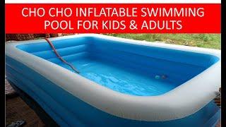 Cho Cho Inflatable Swimming BathTub For Kids & Adults  Jumbo Size (8.5 feet) with Pump Swimming Pool