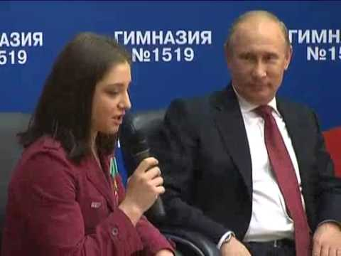 Sep 3, 2012 Russia_Putin visits Moscow school on Knowledge Day
