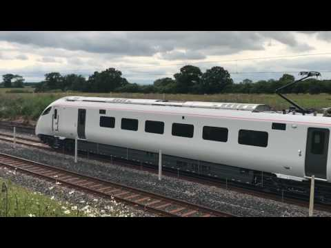 Hitachi Class 800/0 IET Testing at Hitachi Newton Aycliffe Factory Test Track *HD*