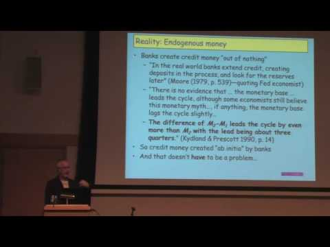 Steve Keen: Credit Money  How it Works and Why it Fails 1 of 3