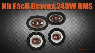 Kit Alto Falantes Bravox 6 e 6x9 Universal 240W RMS - Connect Parts