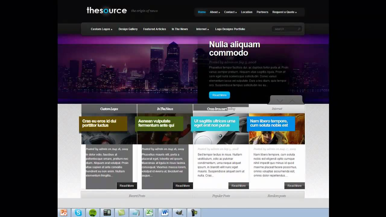 wordpress design examples - magazine - news themes