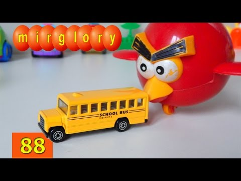 Машинки мультфильм - Город машинок 88 серия: Школьный автобус. Развивающие мультики Mirglory