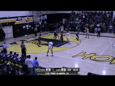 Encinal vs Alameda High School Boys Basketball LIVE 1/20/18