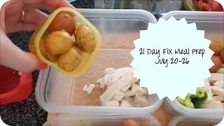 21 Day Fix Meal Prep for the Week of 7/20-7/26
