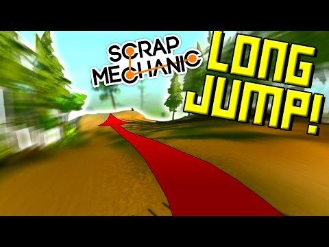 LONG JUMP CHALLENGE on the NEW TERRAIN! - Scrap Mechanic Multiplayer Monday! Ep50