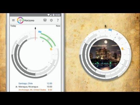 Horzono timezone and world clock app introduction