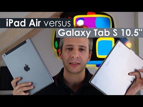 "iPad Air versus Galaxy Tab S 10.5"" il confronto di HDblog.it"