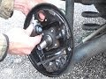 How to remove & replace rear drum brake by pre assembled kit shoes & wheel cylinder