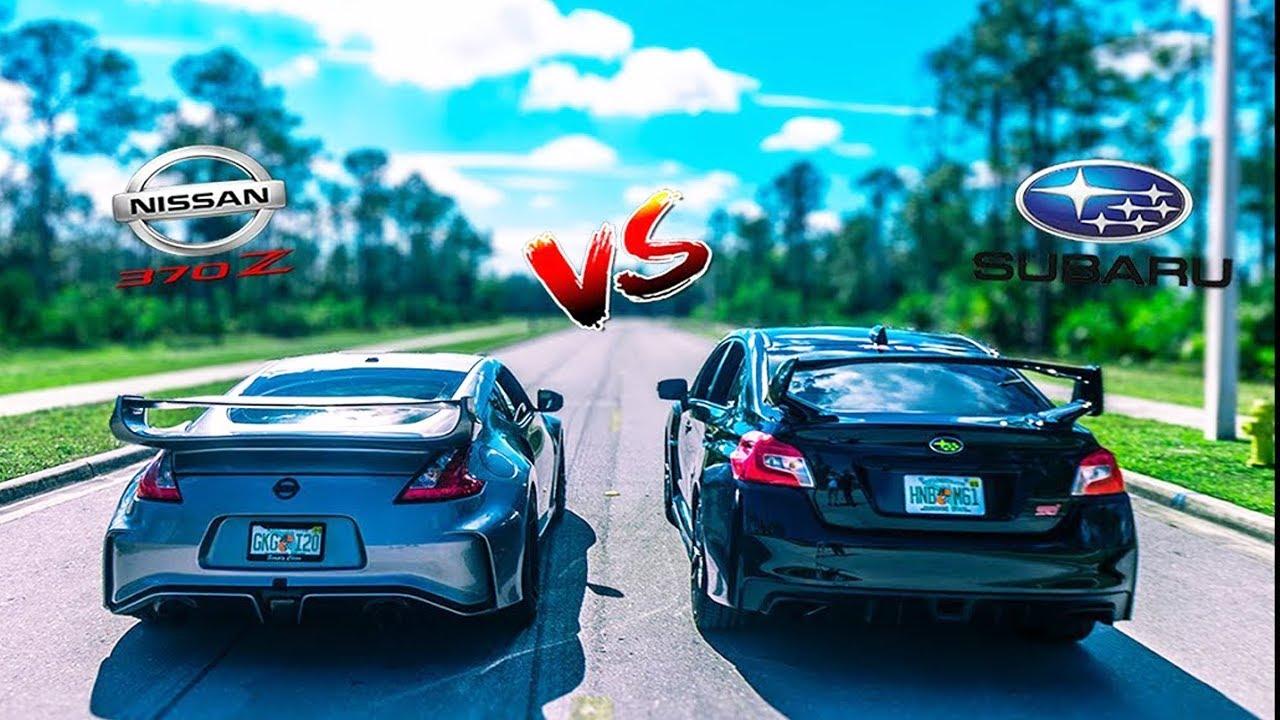 Wrx Sti 0 60 >> Ultimate Battle 370z Vs 2019 Subaru Wrx Sti 0 60 Rev Battle Race Danny Z